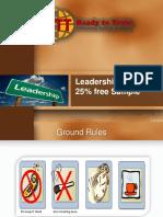 Leadership Skills Free Sample Training Materials Slides for trainers
