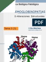 Tema 3 Hemoglobinopatias Estructurales 2012