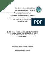 EL ROL DE LA POLICÍA NACIONAL EN EL FENÓMENO DE LA CRIMINALIZACION SECUNDAERIA EN EL DELITO DE TRATA DE PERSONAS.pdf