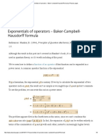 Exponentials of Operators – Baker-Campbell-Hausdorff Formula _ Physics Pages
