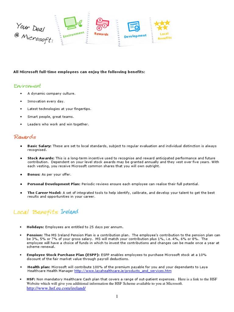 Permanent+Benefits+at+Microsoft+Ireland   Pension   Employment