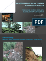 Analisa kesesuaian lahan untuk bangunan pariwisata berdasarkan Peta.pptx