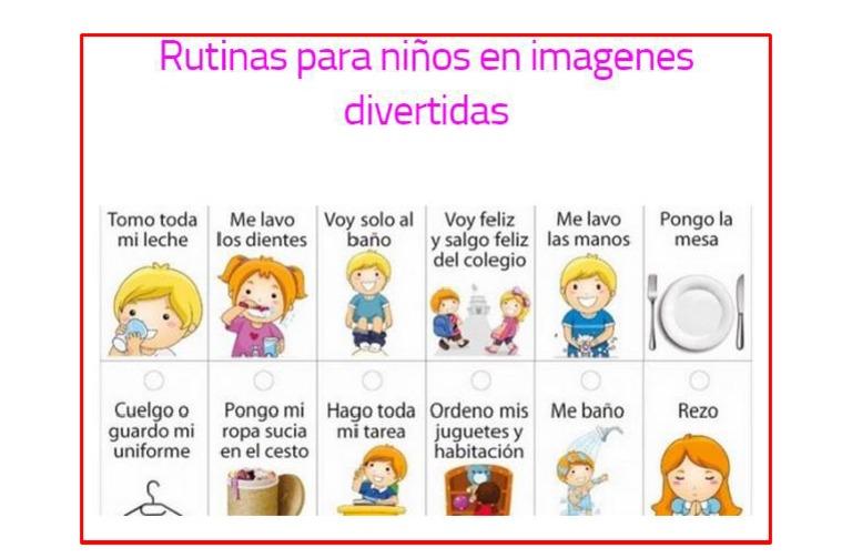 Rutinas Para Niños en Imagenes