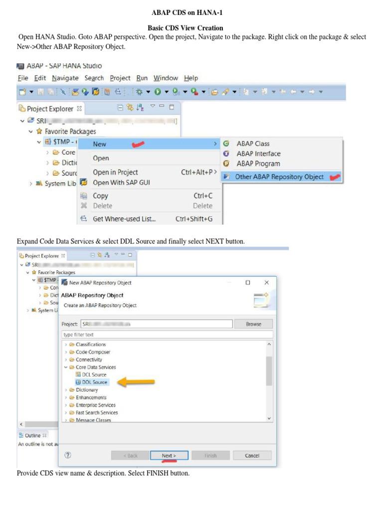 Abap Cds on Hana | Parameter (Computer Programming) | Data