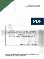 Mecanica de La Fractura Aplicada a Solidos Elasticos Bidimensionales