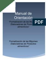 Manual de Orientación - Formalización de Productos Alimenticios Paraguay