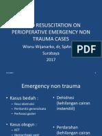 Preoperatif Fluid Resuscitation on Non Trauma Perioperative Emergency
