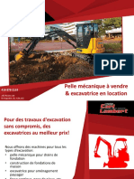 Pelle mécanique & mini excavatrice en location - Carl Lambert