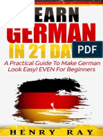 German Learn German in 21 DAYS - Henry Ray