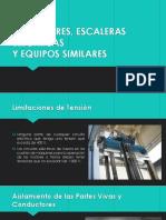 Ascensores, Escaleras Eléctricas