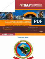Actividades de La Defensa Nacional.
