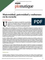 Articulo El Diplo Embarazo Maternidad y Paternidad en La Escuela 1