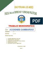 Monografía de Acciones Cambiarias (2)