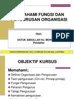 MEMAHAMI FUNGSI DAN PENGURUSAN ORGANISASI - DATUK ABDULLAH.ppt