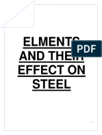 Affect of Elements on Steel