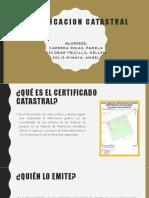 CERTIFICACION CATASTRAL