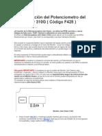 Calibraciòn Del Potenciometro Del Acelerador 310G ( Còdigo F428 )