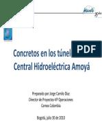 Tuneles 08 Concretos en Los Tuneles de La Central Hidroelect