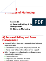 11. Personal Selling and Ethics Notes