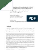 Wolkmer. Sistemas Plurais de Direito - Desde Praticas Sociais e Insurgencias Latino-Americanas