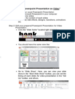 Saving Powerpoint Presentation as Video and Images