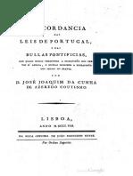 1808 Concordancia Das Leis de Portugal e Das
