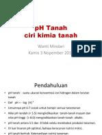 PH Tanah – Ciri Kimia Tanah