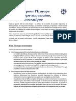 Initiative pour l'Europe - Discours d'Emmanuel Macron à la Sorbonne le 26 septembre 2017
