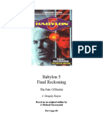 Babylon 5 the Psi Corps Trilogy 3 Final Reckoning the Fate of Bester