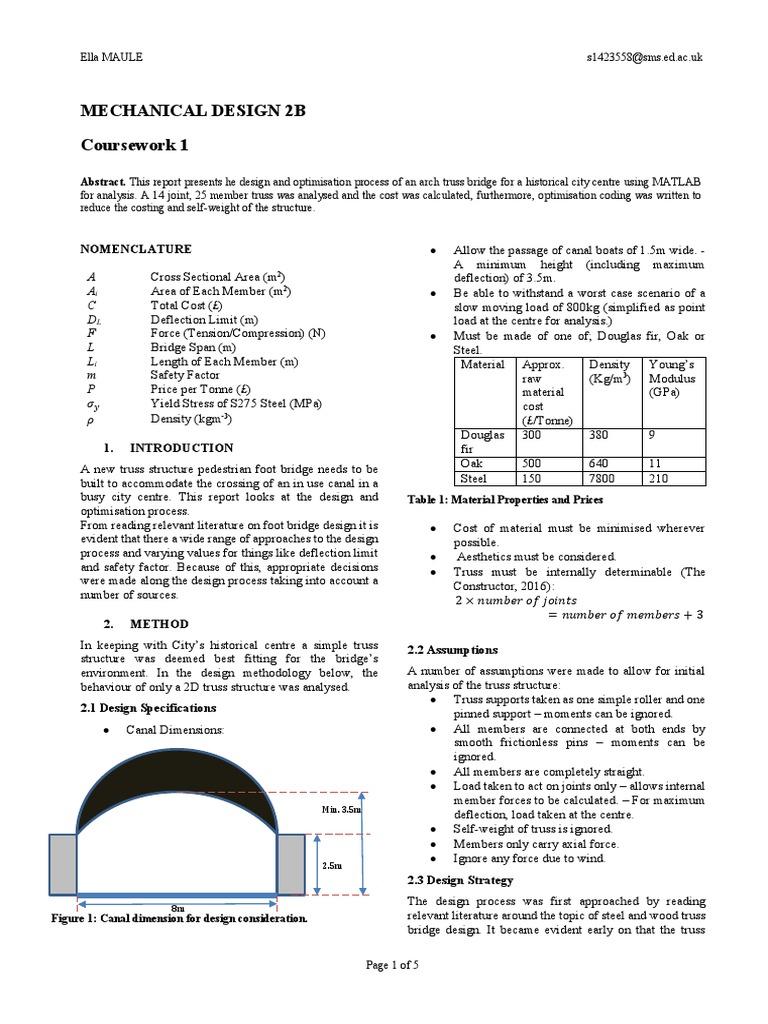 report s1423558 | Truss | Strength Of Materials