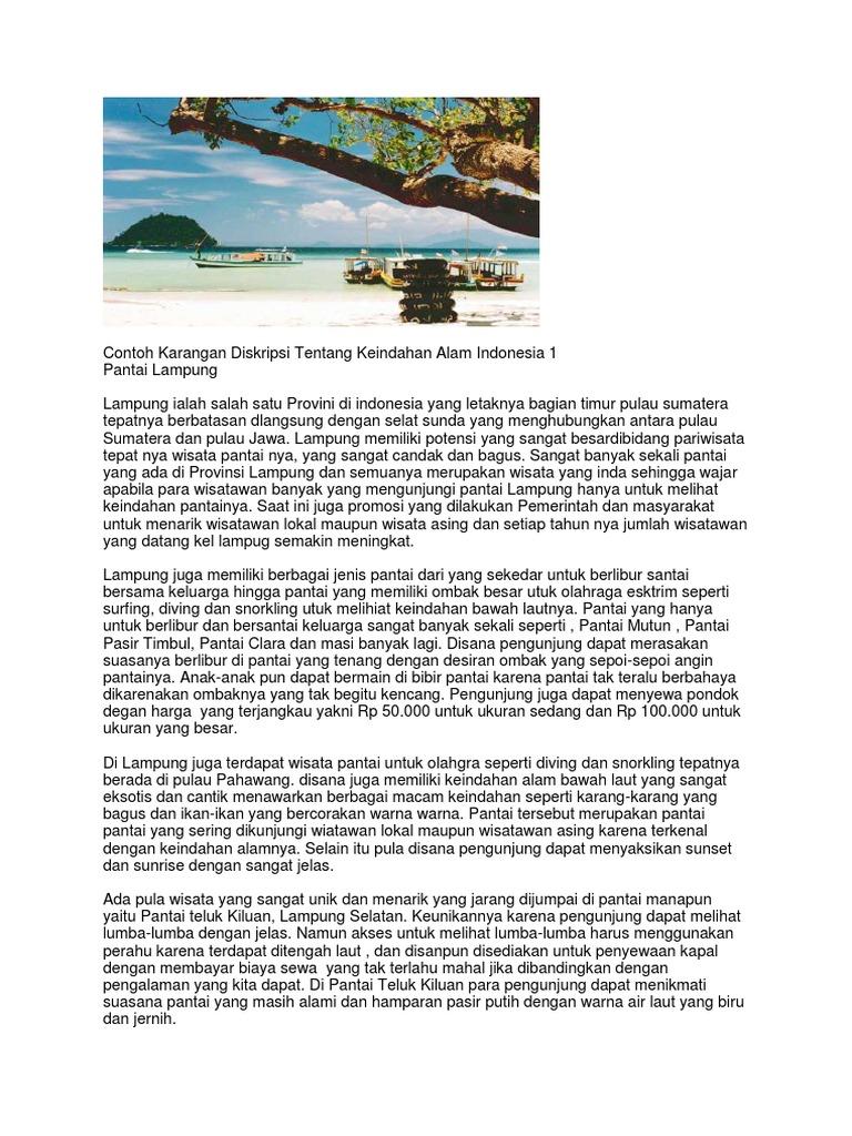 Contoh Karangan Diskripsi Tentang Keindahan Alam Indonesia 1
