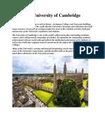 The University of Cambridge.docx