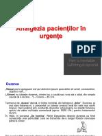 Analgezia Pacientilor in Urgente