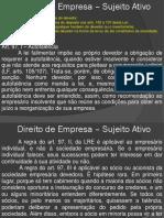Direito Empresarial - Falência 2