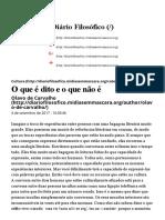 O Que É Dito e o Que Não É – Olavo de Carvalho