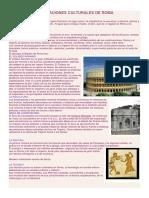 Aportaciones Culturales de Roma