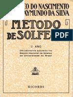 215767758 Metodo de Solfejo Frederico Do Nascimento Jose Raymundo Da Silva 1ºAno
