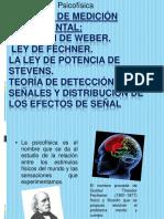 Métodos de Medición Experimental Fracción de Weber-ley de Fechner