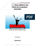 Reglamento Del Ministerio de La Alabanza y Adoración - Copia (2)