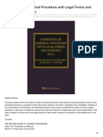 Compendia of Criminal Procedure With Legal Forms and Evidence 2 2nd Ed
