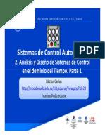 2. Análisis y Diseño de Sistemas de Control en El Dominio Del Tiempo Parte 1