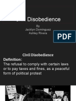 civil disobendience