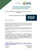 Resultados Preliminares Grupos Conv 781 Consulta