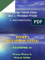 Ptk Ses i 1 Reciprocating Pump