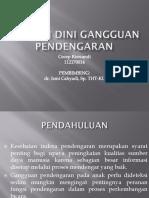 Deteksi Dini Gangguan Pendengaran Ppt
