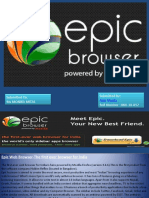 Pgdm Sec a Epic Web Browser