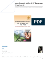 Comments and Cases on Republic Act No 9165 Dangerous Drugs Act of 2002 Paperbound
