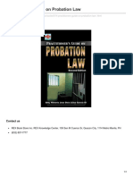 Practitioners Guide on Probation Law
