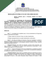 Resolucao CPxPPGEL 01-16 Criterios de Selecao PPGEL