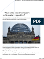 What is the Role of Germany's Parliamentary Opposition Germany DW 24.09